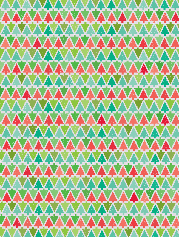 Vibrant image inside printable christmas wrapping paper