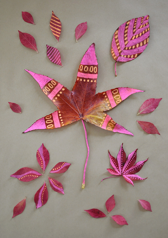 Leaf Drawing With Chalk Markers Artbar