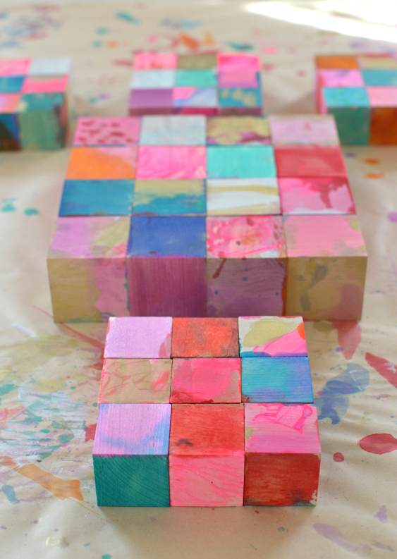 artistic DIY blocks make a beautiful gift