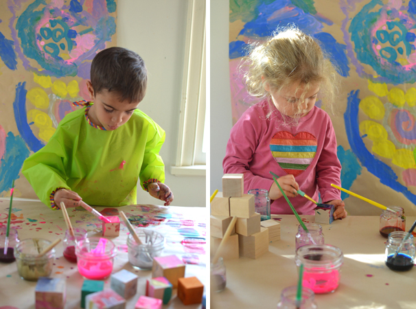 artistic DIY blocks make a beautiful gift