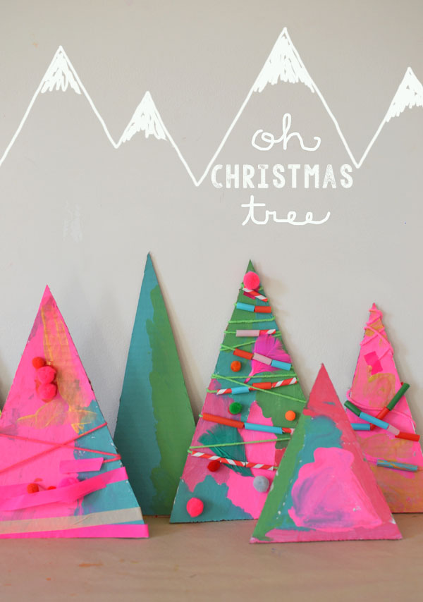 Holiday Art // Christmas Tree Assemblage