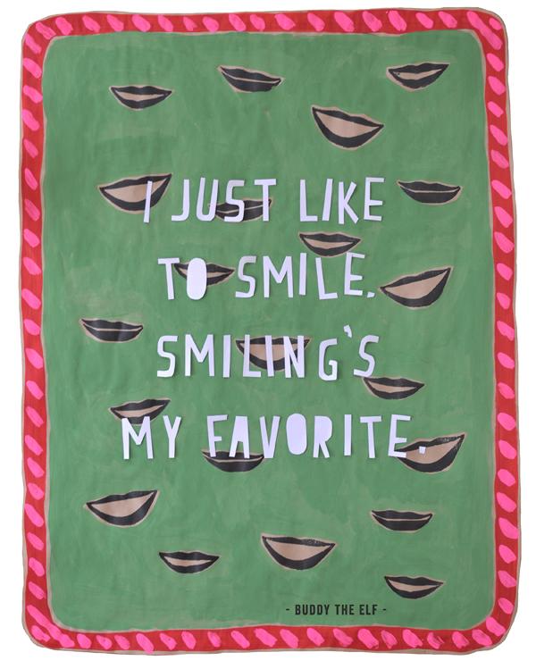 Elf Quotes Smiling: Smiling's My Favorite // Elf Quote
