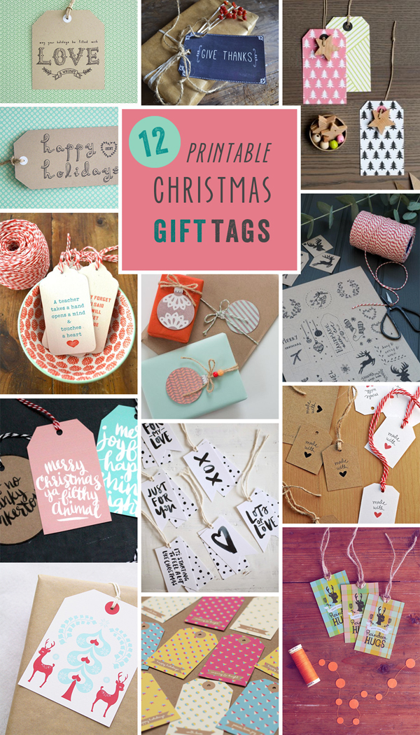 Printables // 12 Gift Tags for Christmas