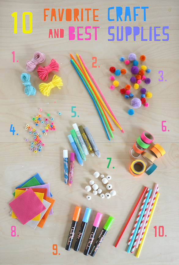 My 10 Favorite Craft Supplies for Kids