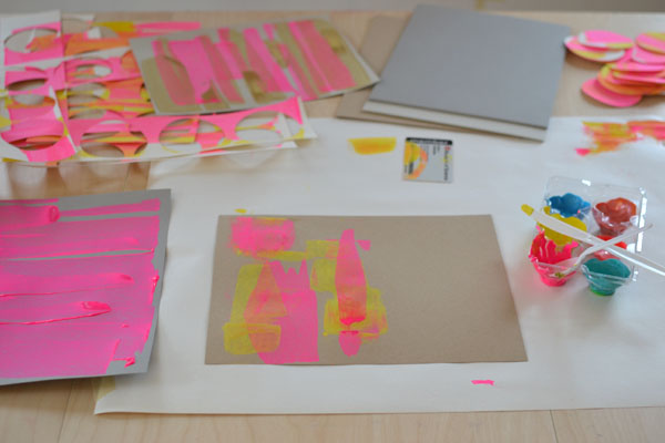 Art Bar Blog business cards in the making.