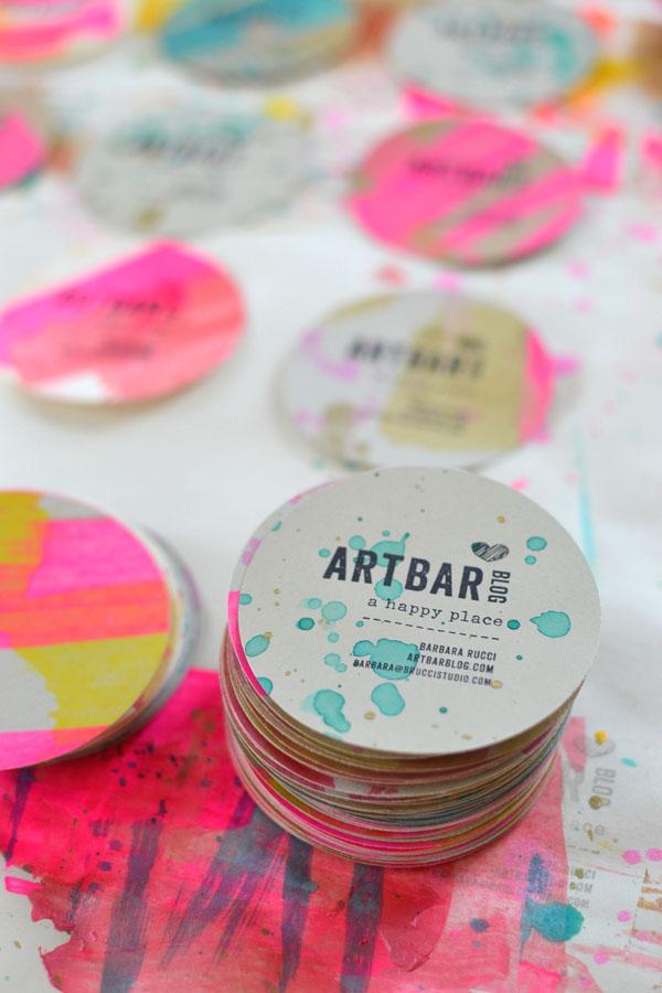 Art Bar Blog business cards