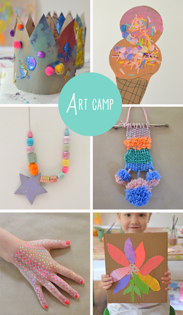 30 creative ideas // {art camp projects}
