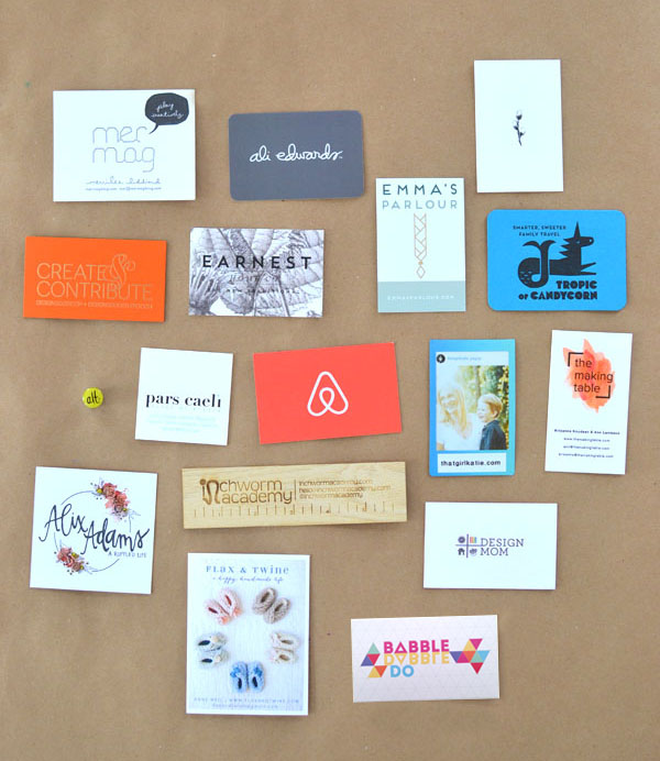 business cards from ALT summit 2015