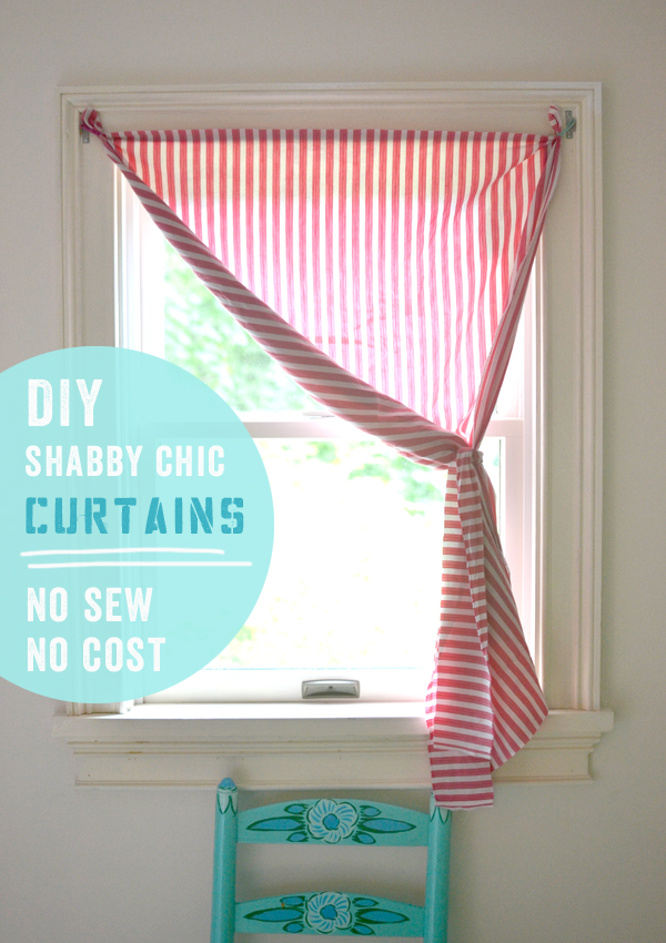 world's easiest no-sew curtains, perfect if you rent your home