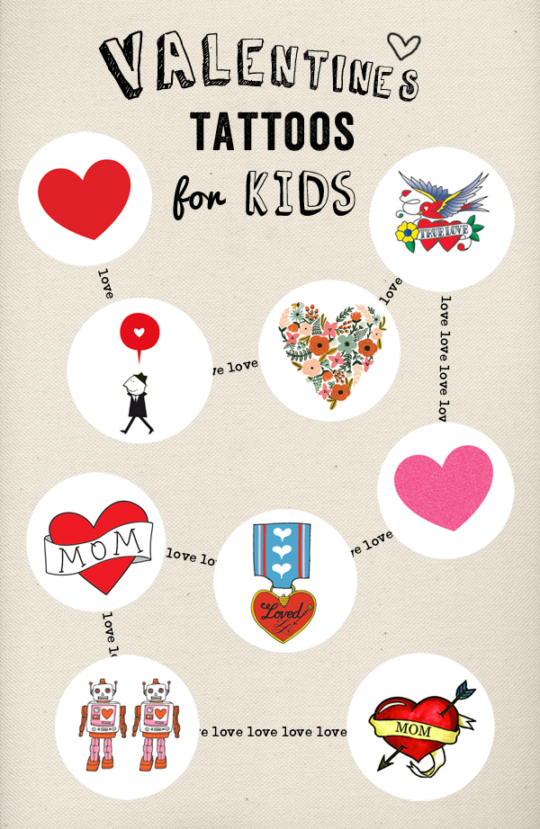 Valentine's Temporary Tattoos for Kids