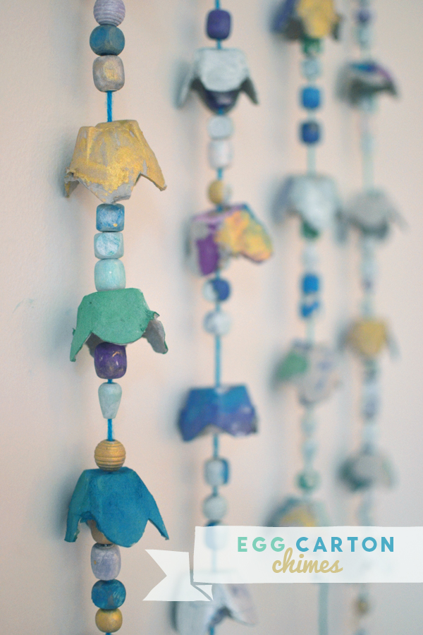 Egg carton chimes artbar for Egg carton room