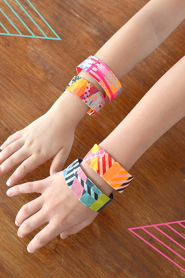 Washi tape bracelets artbar for Super easy duct tape crafts