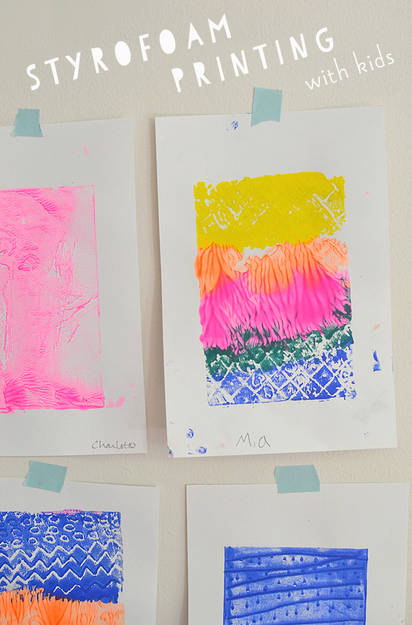teach kids the fine art of printmaking with simple styrofoam prints - Kids Printing Paper