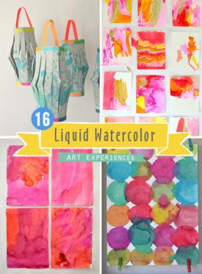 16 Art Experiences using Liquid Watercolor for Kids
