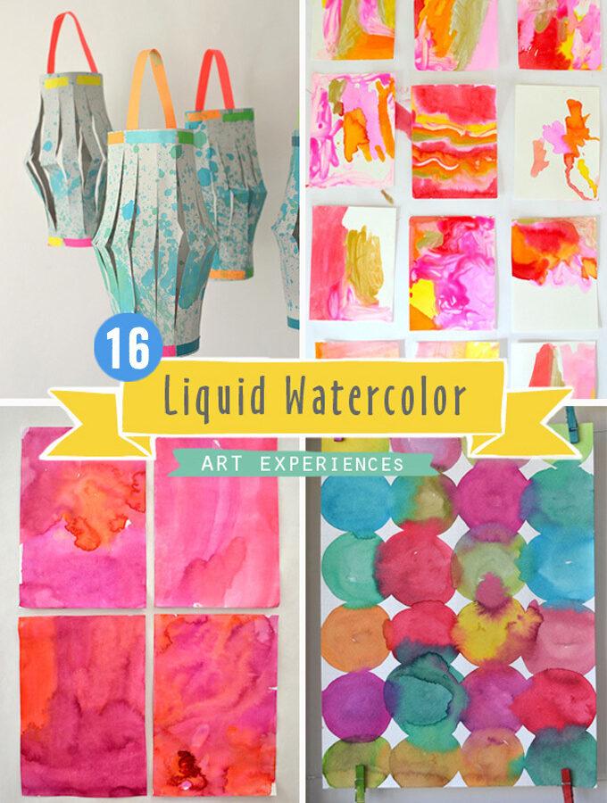 16 Liquid Watercolor Art Experiences