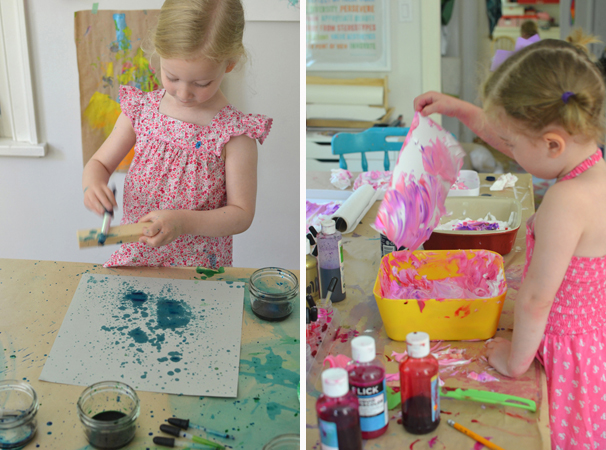 a child's authentic exploration helps them learn about their place in the world ~ and yes, sometimes this can be messy!