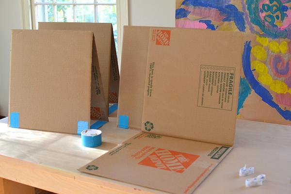 Diy Cardboard Easel Artbar