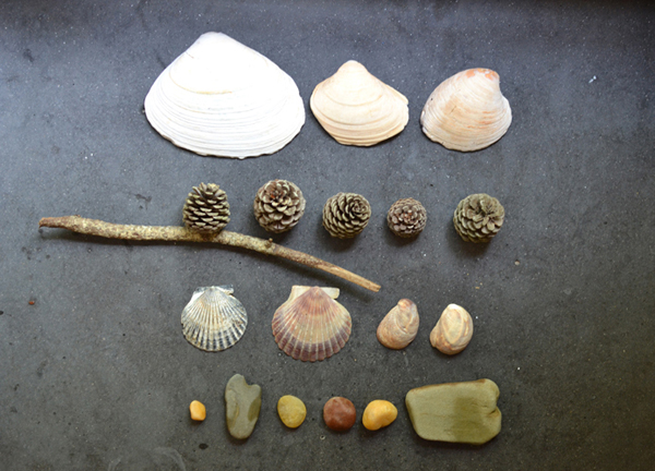 summertime is about making art from beach finds