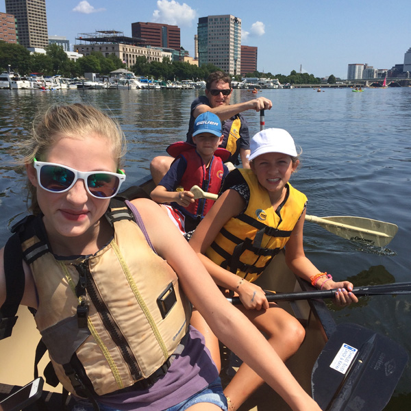 canoeing on the Thames River, Boston