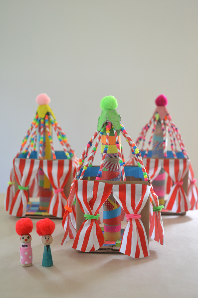 Circus Tents Made by Kids