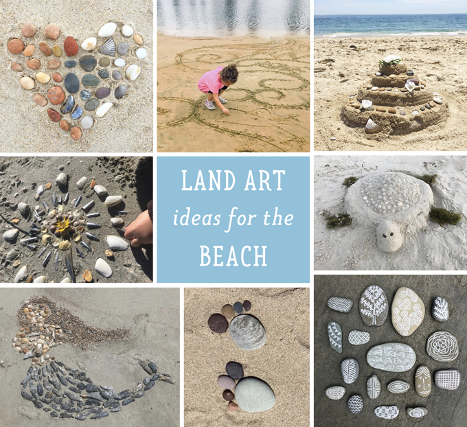 These land art ideas from the beach are so inspirational and doable.
