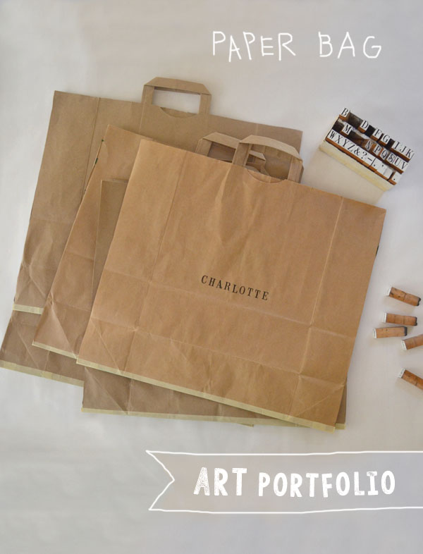 make a simple art portfolio from a brown paper bag ~ ready in minutes!