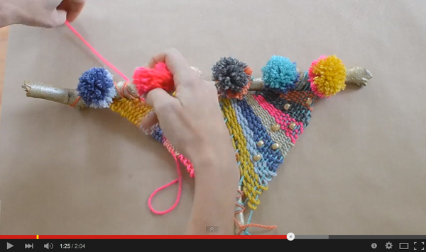 make a beautiful weaving from an ordinary branch