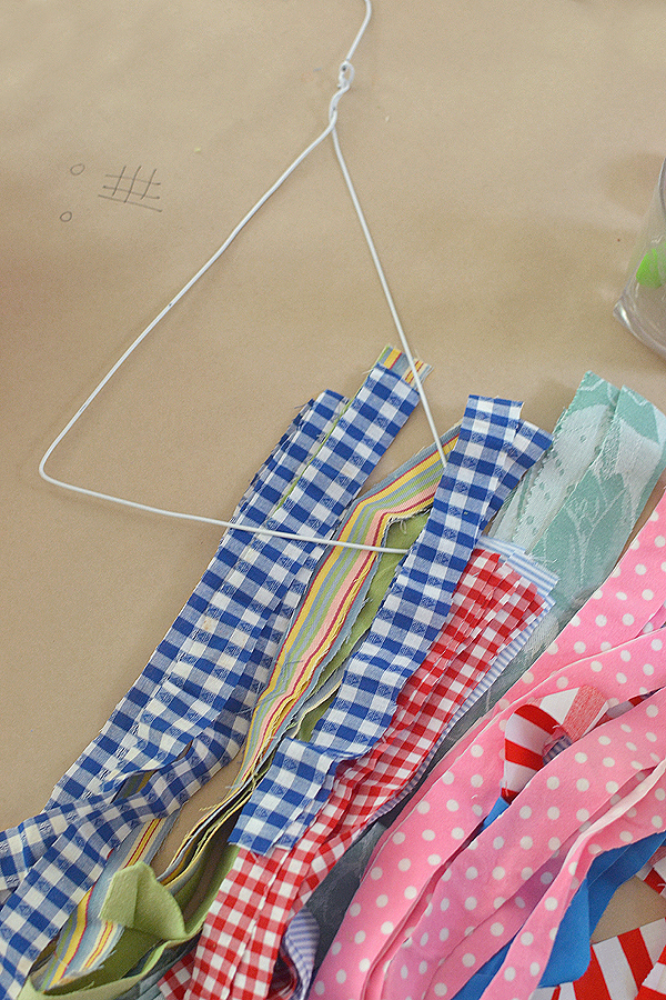 fabric wrapped hangers for making mobiles