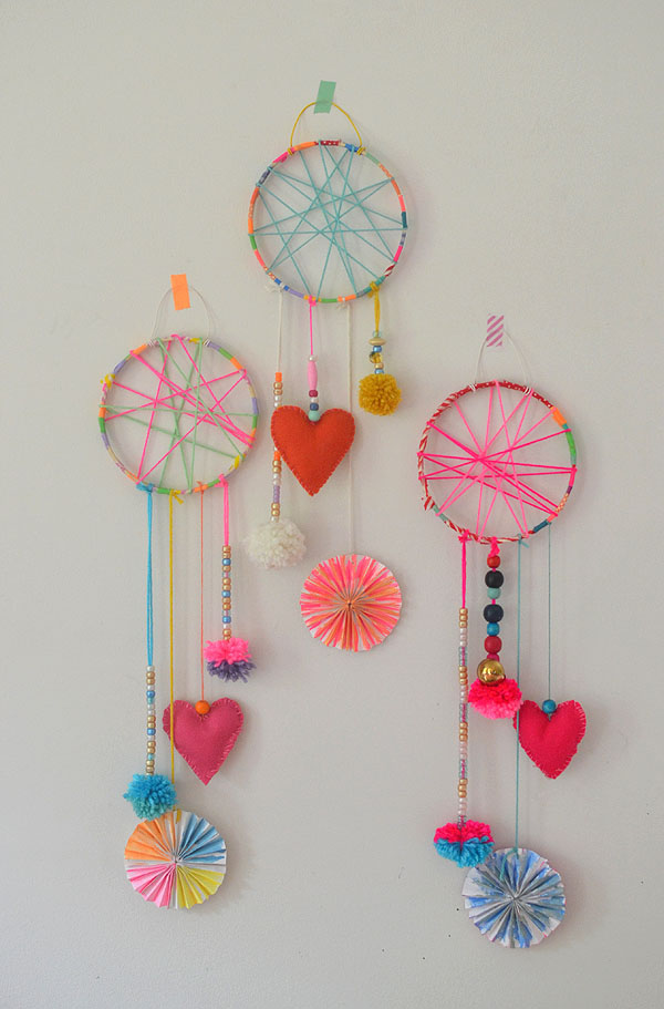 Diy dream catchers made by kids artbar for Ideas for making dream catchers