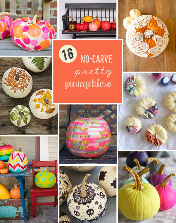 16 DIY Pretty Pumpkins without Carving