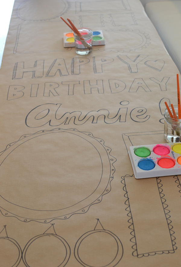 Picture Frame Birthday Party Banner