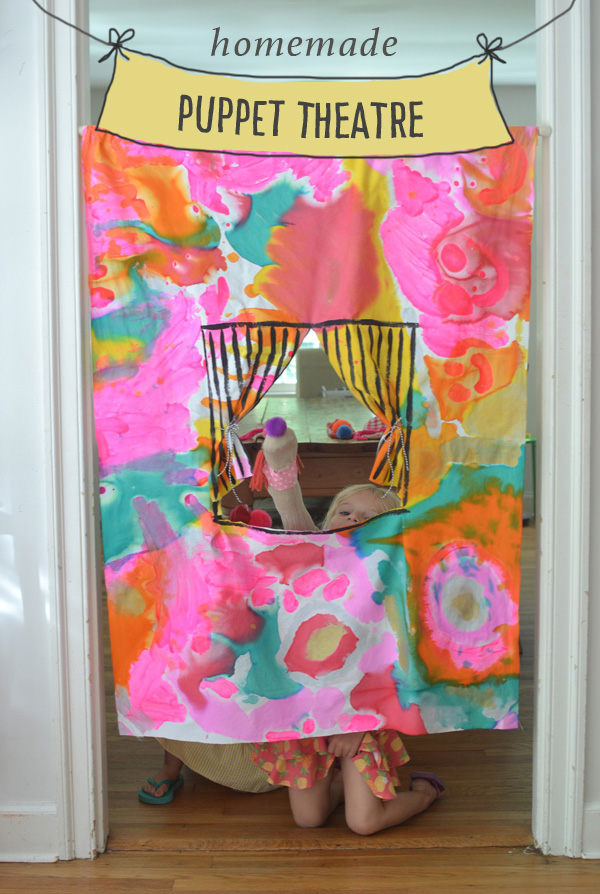 Homemade No-Sew Puppet Theatre
