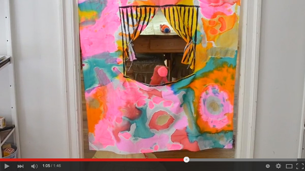 YouTube video of kids making their own homemade puppet theatre