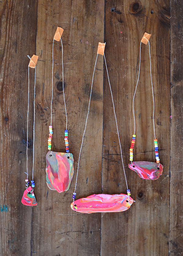 Kid Made Polymer Clay Necklaces