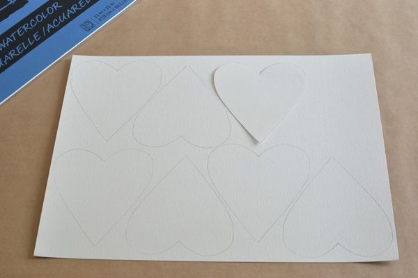 This is the simple way we make watercolor hearts in our house that have a clean edge.
