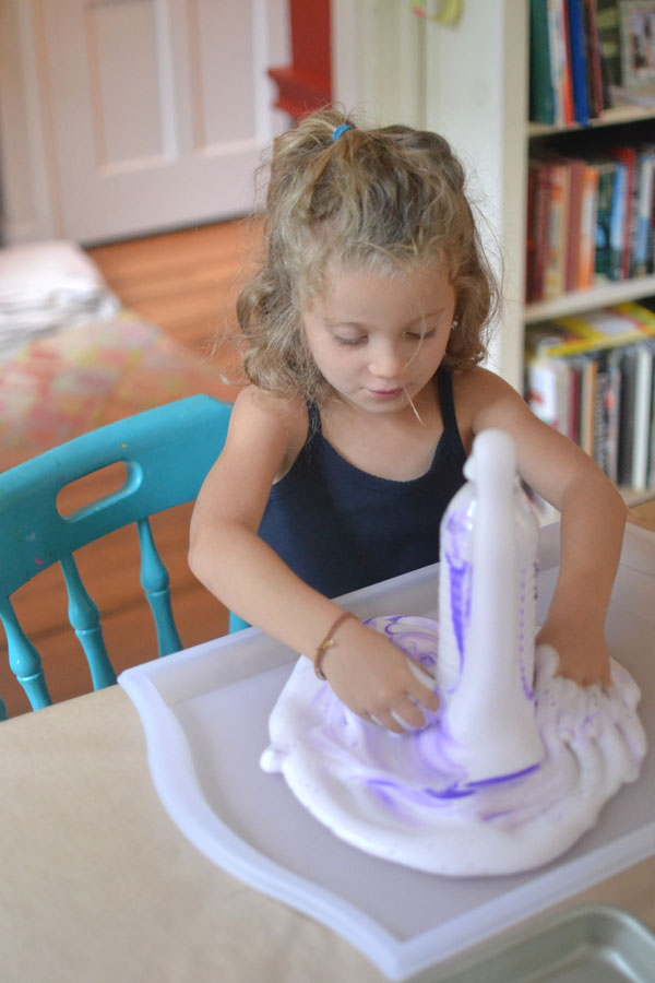 "Kids make a fizzing science concoction called ""Elephant's Toothpaste"""