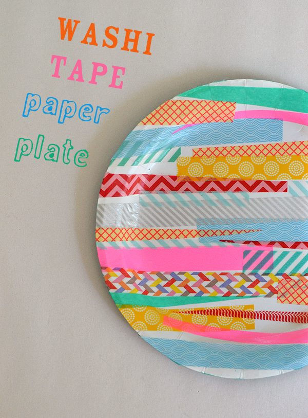 Washi Tape Paper Plates