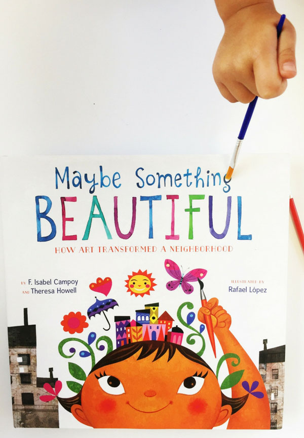 Set in a town that is dismal and austere, Mira offers her neighbors the joy of her colorful art. Soon a muralist takes notice and together, they transform their community. Even the smallest artist can accomplish something big!be-something-beautiful-cover