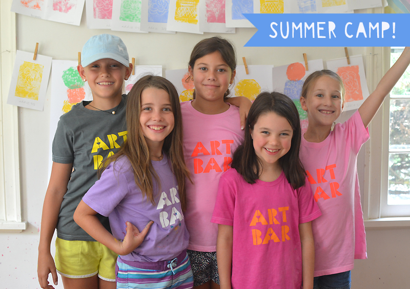 Art Bar's summer camp is called Mini Maker Workshop, and is for children age four to twelve. Each week, the Mini Makers will explore all types of materials in a nurturing environment where the emphasis will be on artistic expression.