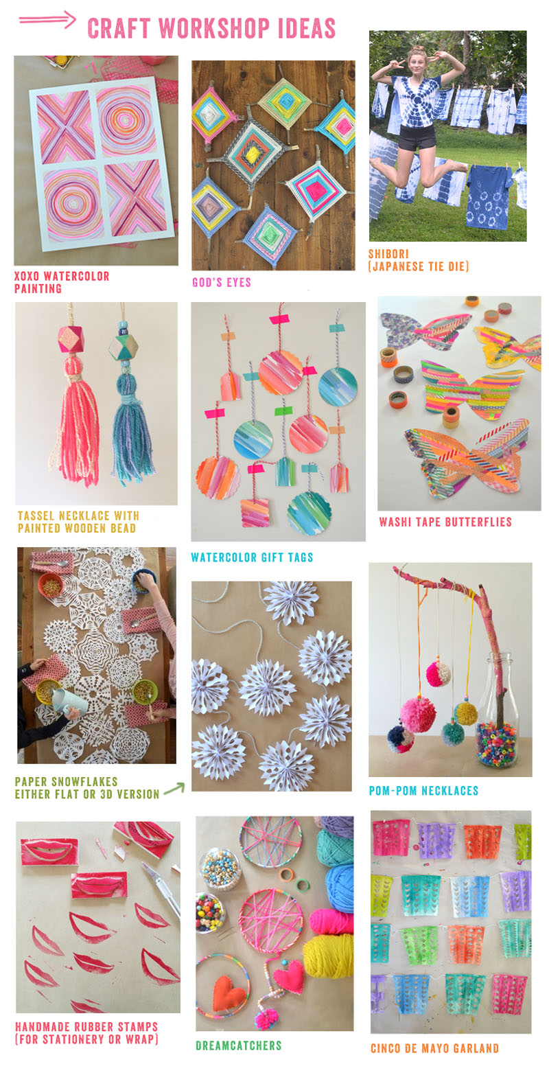 Art Bar craft party ideas