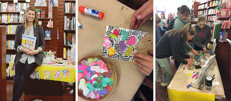 Elm Street Books event for the new book Art Workshop for Children, by Barbara Rucci