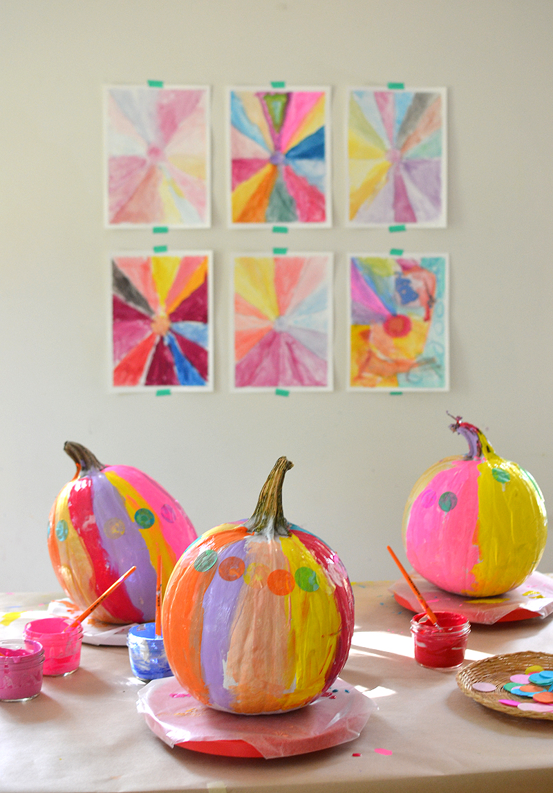 Painting Pumpkins with Kids