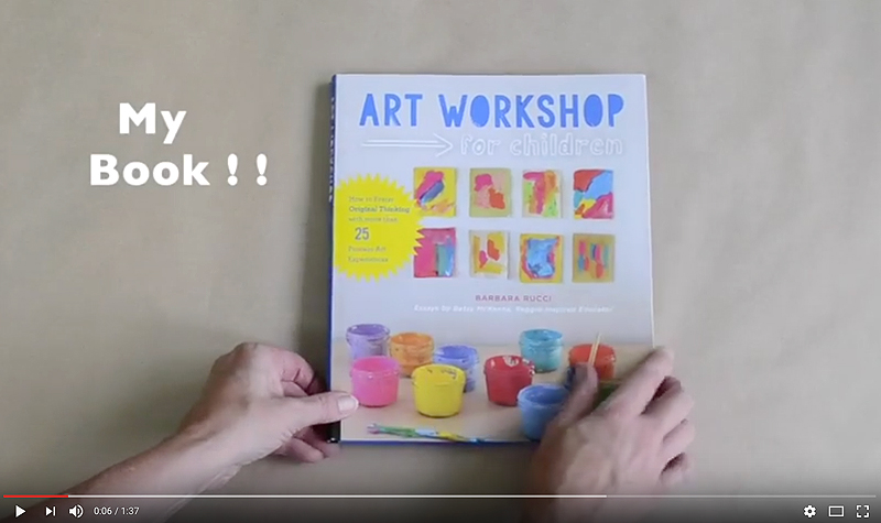 The video trailer for my new book, Art Workshop for Children
