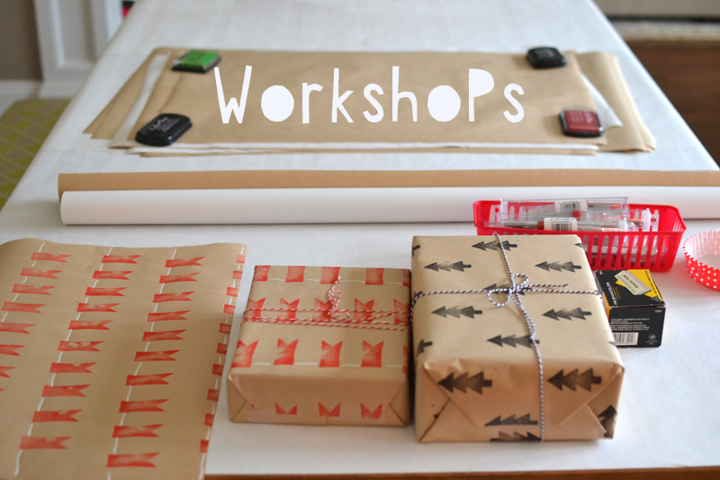 Hosting craft workshops for older kids and moms is one of my favorite things to do!