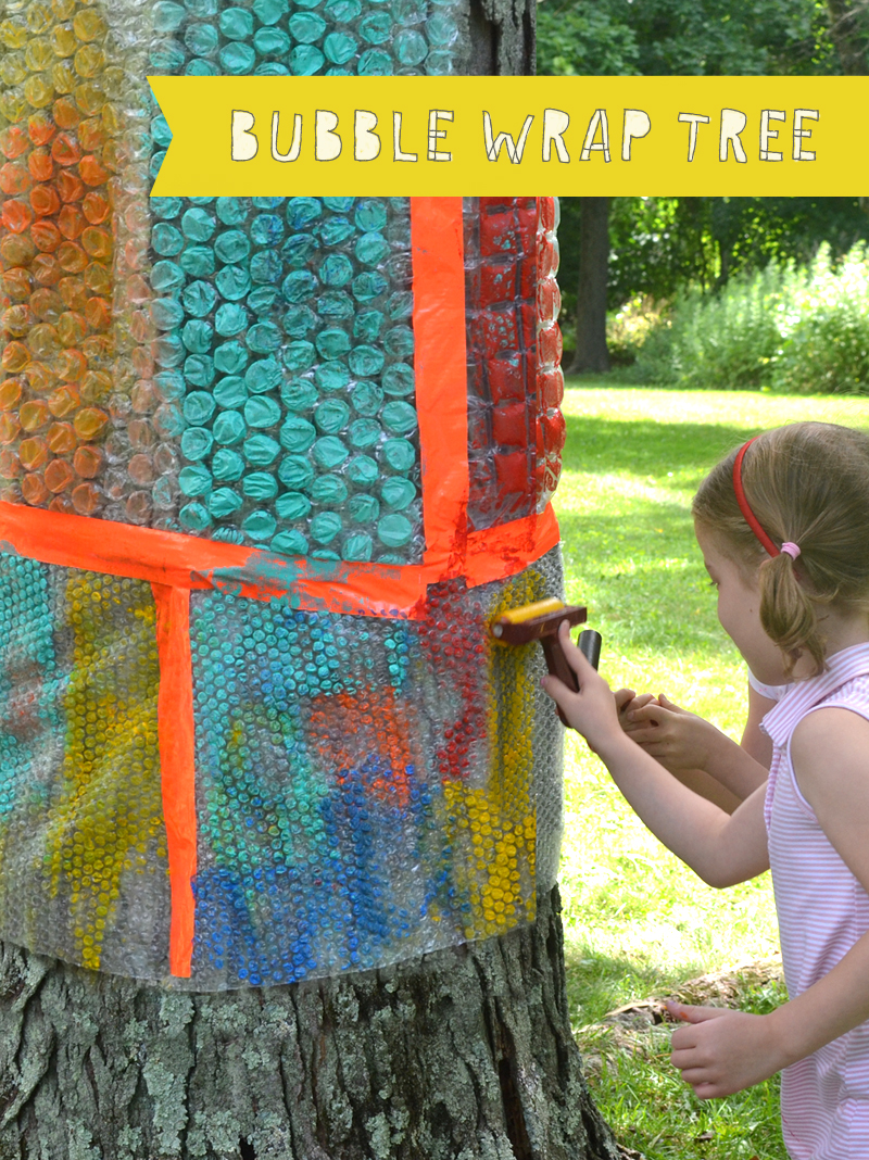 Painting and Printing on the Bubble Wrap Tree