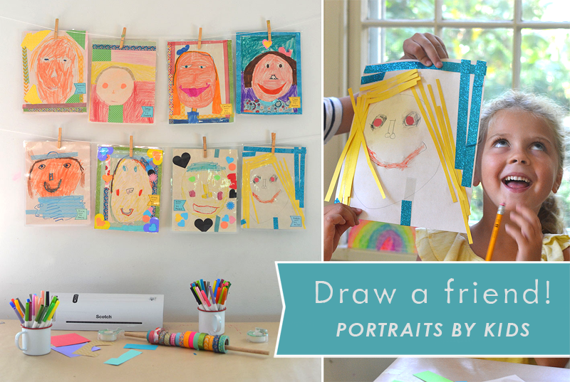 Children draw portraits of each other, inspired by the book The Name Jar, and then use the Scotch™ Thermal Laminator to make their portraits everlasting.