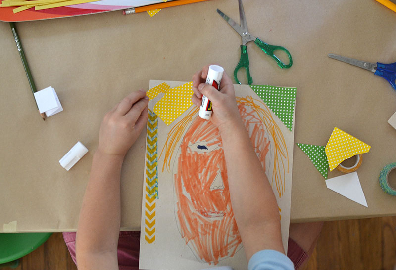 Children draw portraits of each other, inspired by the book The Name Jar, and then use the Scotch™ Thermal Laminator to make their portraits everlasting. #ad