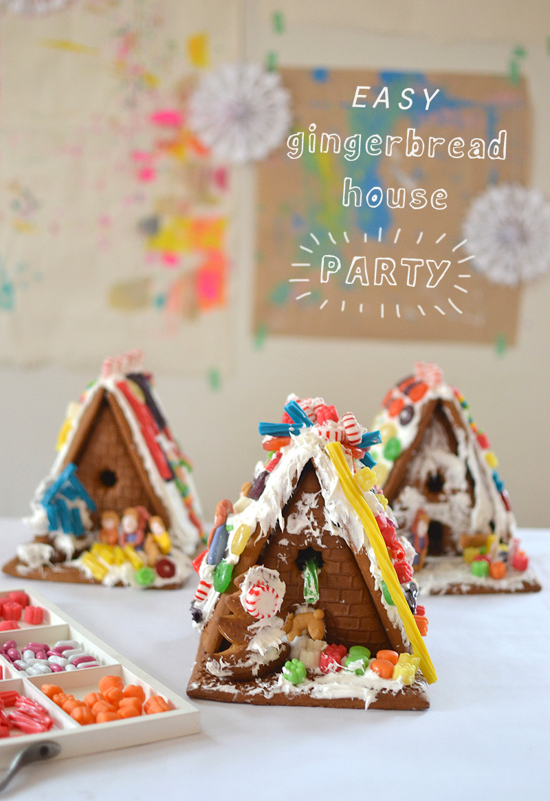 Easiest Gingerbread House Party Ever