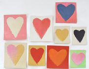 Cardboard Hearts from Cereal Boxes