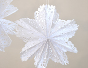 Doily Snowflake Stars